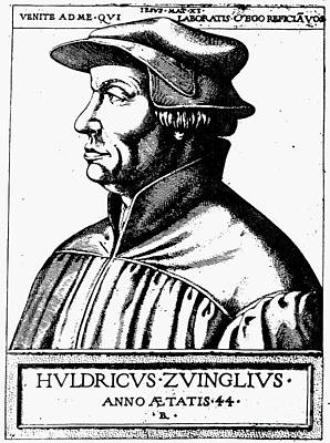Huldreich Zwingli Art Print by Granger
