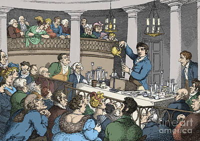 Photograph - Humphrey Davy Lecturing 1809 by Science Source
