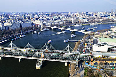 Crosses Photograph - Hungerford Bridge Seen From London Eye by Elena Elisseeva