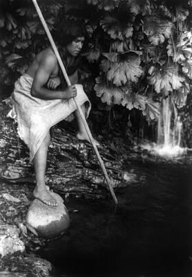 Photograph - Hupa Fisherman, C1923 by Granger