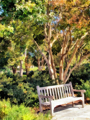 Park Benches Mixed Media - I Waited For You Today by Angelina Vick