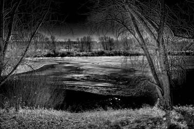 Bridge Photograph - Ice On Eaglewatch Lake by David Patterson