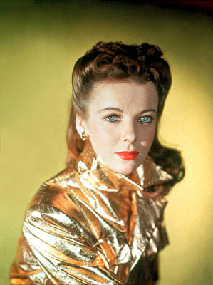 Gold Lame Photograph - Ida Lupino by Everett