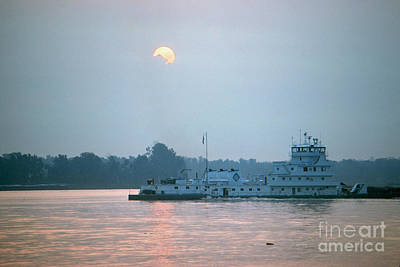 Photograph - Illinois: Towboat by Granger