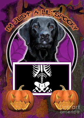 I'm Just A Lil' Spooky Labrador Art Print by Renae Laughner