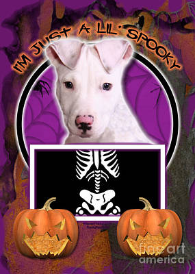 I'm Just A Lil' Spooky Pitbull  Art Print by Renae Laughner