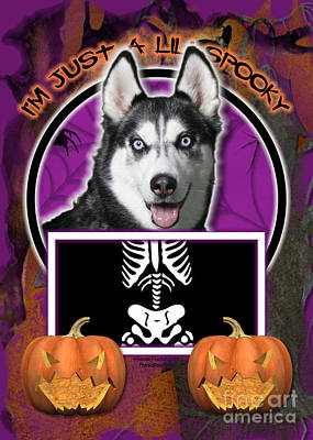 I'm Just A Lil' Spooky Siberian Husky Art Print by Renae Laughner