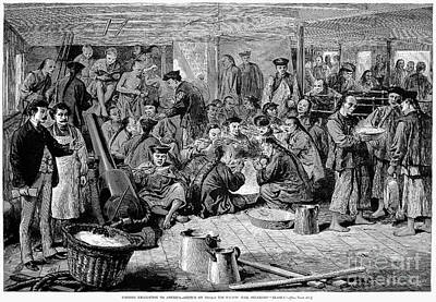 Immigrants: Chinese, 1876 Art Print by Granger