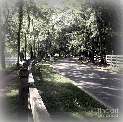 In My Dream The Road Less Traveled Art Print by Nancy Dole McGuigan
