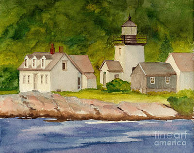 Indian Island Light Original by Peggy Bergey