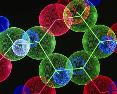 Molecular Graphic Photograph - Insulin Molecule by Pasieka
