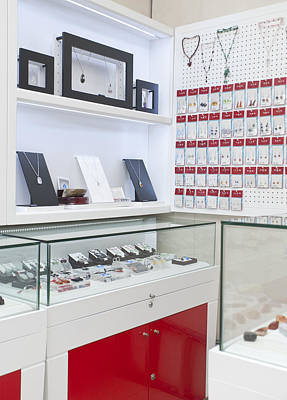 Large Earrings Photograph - Interior Of A Luxury Goods by Guang Ho Zhu