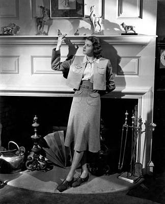 Button Down Shirt Photograph - Intermezzo, Ingrid Bergman, 1939 by Everett