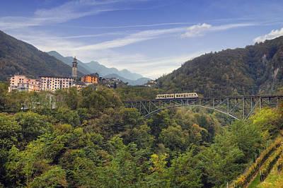 Narrow Gauge Photograph - Intragna - Ticino by Joana Kruse