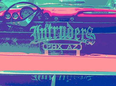 Intruders Car Club Art Print by Chuck Re