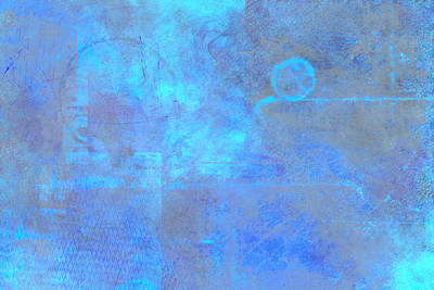 Worn Down Painting - Iridescent Aquamarine by Christopher Gaston