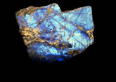 Labradorite Photograph - Iridescent Slab Of Labradorite by Vaughan Fleming