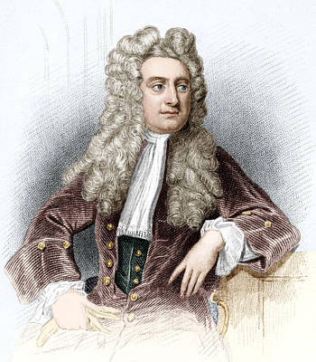Isaac Newton, English Physicist Art Print by Sheila Terry