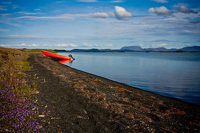 Photograph - Isolated Red Boat by Anthony Doudt