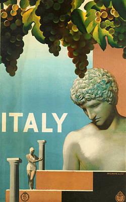 Grape Vine Digital Art - Italy by Georgia Fowler