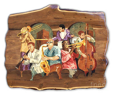 Trombone Mixed Media - Jam Session by Carl Snyder