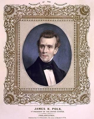 James Polk 1795-1849 President Art Print by Everett