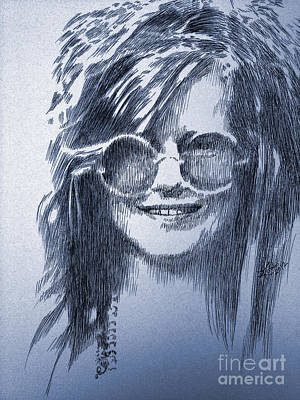 Texas Drawing - Janis Joplin by Robbi  Musser