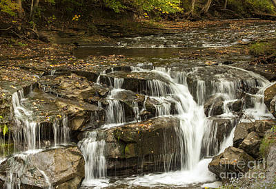 Java Falls In Autumn Art Print by Darleen Stry