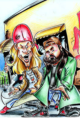 Jay And Silent Bob Art Print by Big Mike Roate