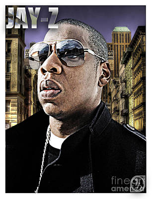 Jay Z Digital Art - Jay Z by The DigArtisT