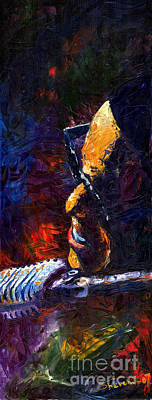 Jazz Ray Art Print by Yuriy  Shevchuk