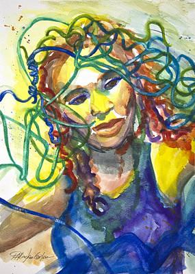 Jazz Mixed Media - Jazz Singer by Patricia Allingham Carlson