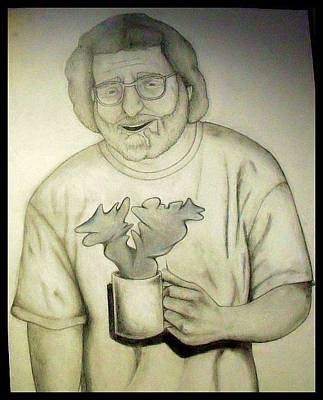 Drawing - Jerry And His Coffee by Steve Weber