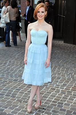 Strapless Dress Photograph - Jessica Chastain Wearing A Christian by Everett