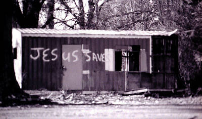 Toy Shop Photograph - Jesus Saves by Doug Duffey