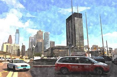 Digital Art - Jfk Boulevard by Andrew Dinh