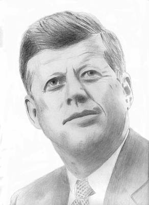 Drawing - JFK by Pat Moore