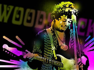 Painting - Jimi Hendrix by Paul Sachtleben