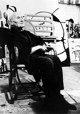 Miro Photograph - Joan Miro, 1970s by Everett