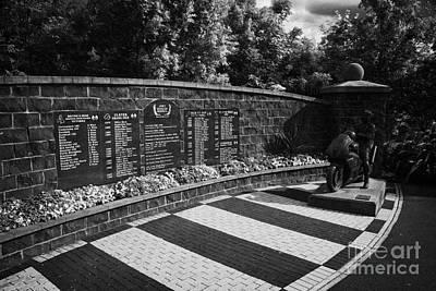 Joey Dunlop Memorial Garden In Ballymoney County Antrim Northern Ireland Art Print by Joe Fox