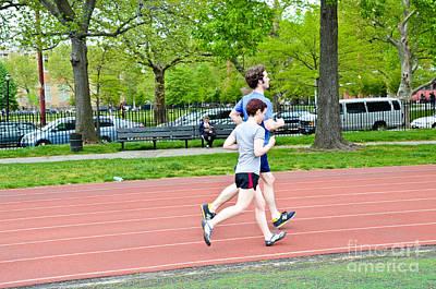 Jogging Art Print by Photo Researchers