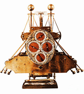 Photograph - John Harrisons First Sea Clock by Photo Researchers