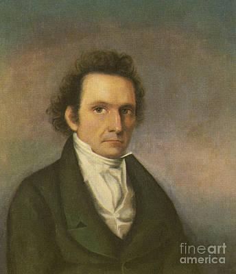 Self-portrait Photograph - John James Audubon, French-american by Photo Researchers