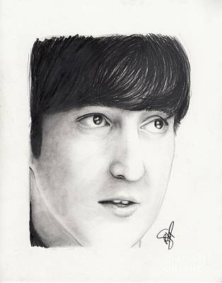 John Lennon Portrait Drawing - John Lennon by Rosalinda Markle