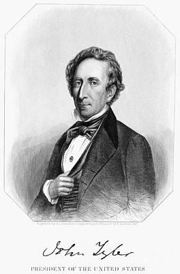 Photograph - John Tyler (1790-1862) by Granger