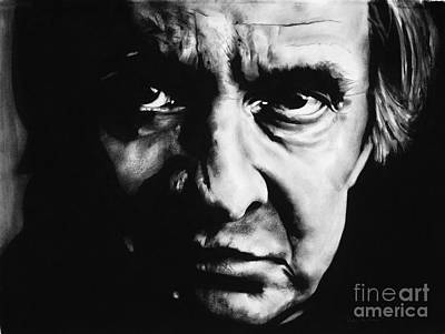 Johnny Cash Drawing - Johnny Cash by Brian Curran