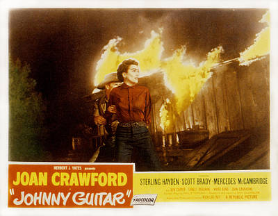 Johnny Guitar, Joan Crawford, Sterling Art Print