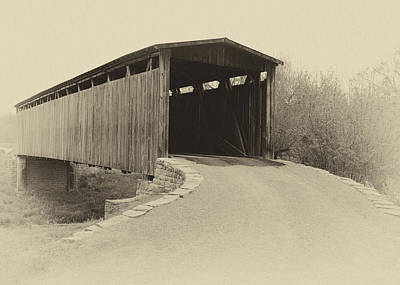 Photograph - Johnson Creek Covered Bridge by Harold Rau