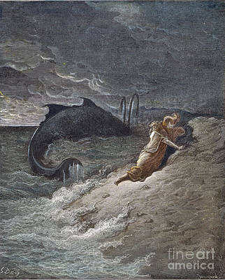 Drawing - Jonah by Gustave Dore
