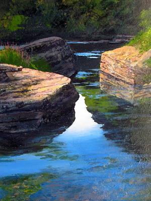 Painting - Jordon Creek by Milan Melicharek